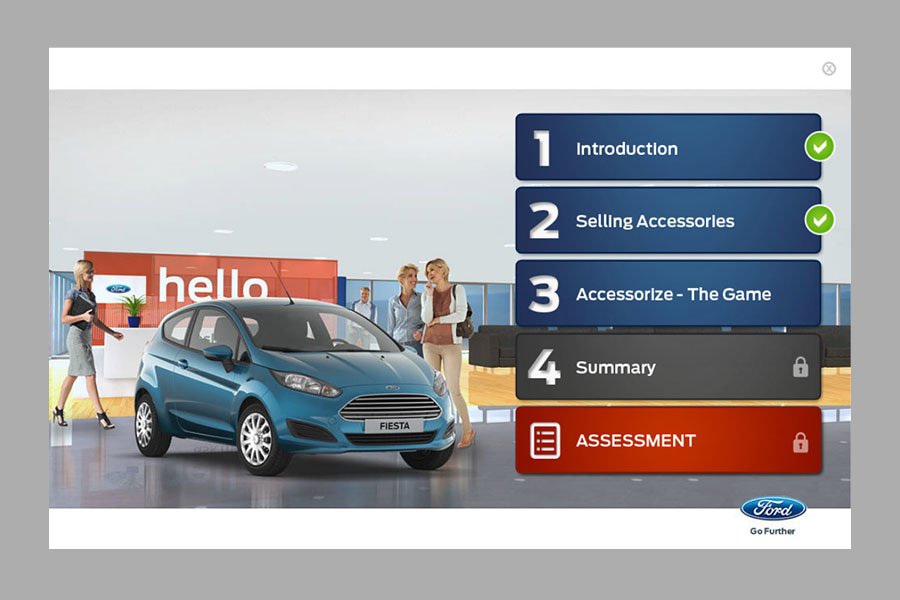 Ford Accessories – Product and Soft-Skill Training E-learning (2013)